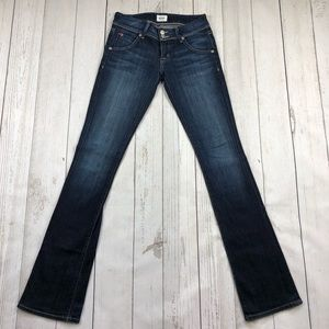 Hudson Beth Baby Boot Factory Faded Jeans SZ 24